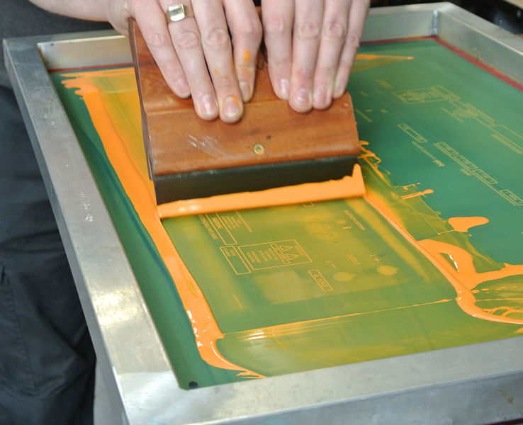 Silk Screen Screens : Silk screen printing mid fab developments